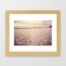 Quiet Moments on Cayucos Beach Framed Art Print