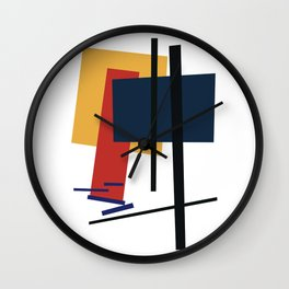 Tribute to K. Malevich (n.1) Wall Clock