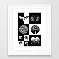 literary Framed Art Prints featuring The Literary Pocket Book by Moon Fox