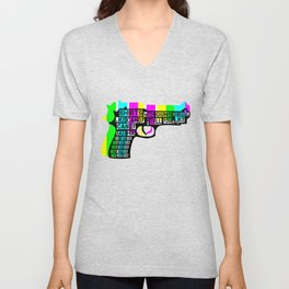 Guns and Candy Unisex V-Neck