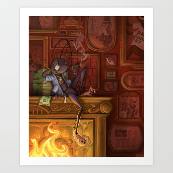 The Luck of the Cricket Art Print