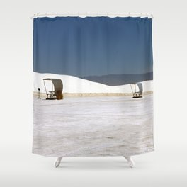 Picknick At White Sands Shower Curtain