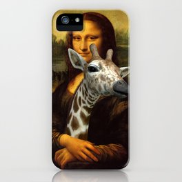 Mona Lisa Loves Giraffes iPhone Case