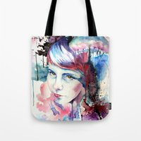 emily rickard Tote Bags featuring Emily by Tony Unser