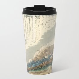 1854 Comparative Lengths of Rivers and Heights of Mountains Metal Travel Mug