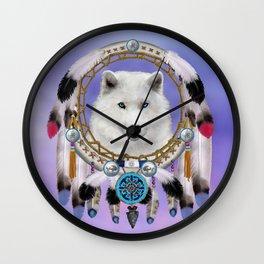 Native American Indian Wolf Spirit Wall Clock