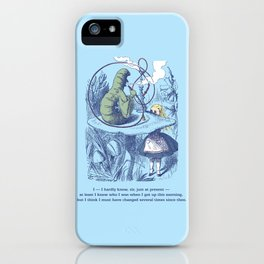 Alice and the Caterpillar iPhone Case
