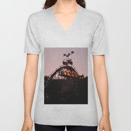 The Cyclone At Dusk NYC Photography Unisex V-Neck