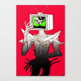 TV HEAD Canvas Print