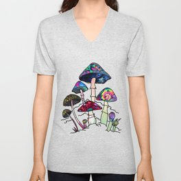 Garden of Shrooms Unisex V-Neck