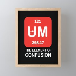 around the element of confusion confusion elements Framed Mini Art Print