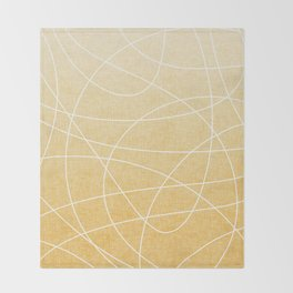 Scribble Linen - Sunflower Yellow Throw Blanket