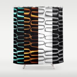Lines   Abstract   Coloured Heating Coils   Nadia  Bonello Shower Curtain