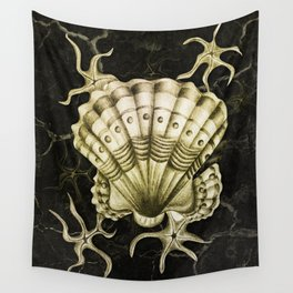 Dystopian Cockle - Gold Wall Tapestry