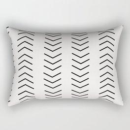 mudcloth pattern white black arrows Rectangular Pillow