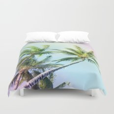Relaxing Rainbow Color Palms Duvet Cover