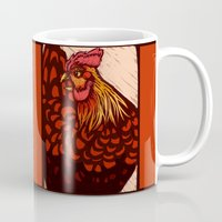 chicken Mugs featuring Chicken by LizzyARTING