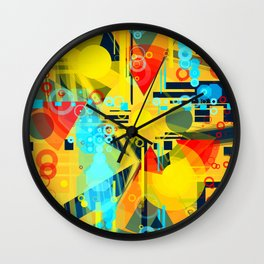 Sunny day at the beach Wall Clock