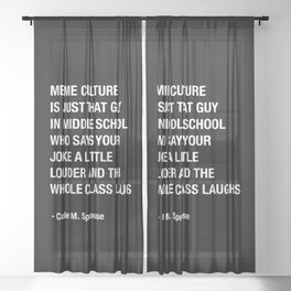 Cole Sprouse Tweet About Meme Culture Sheer Curtain