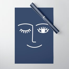Wink / Navy Wrapping Paper