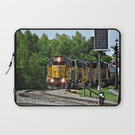 Train by the River, Baton Rouge Laptop Sleeve