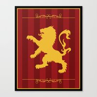gryffindor Canvas Prints featuring Gryffindor by Winter Graphics