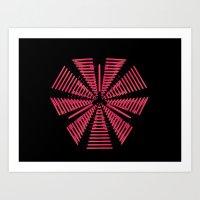 29D (N) : Neon - Pentagon Art Print