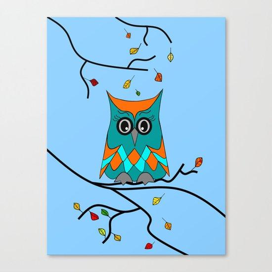 Autumn Owl Canvas Print