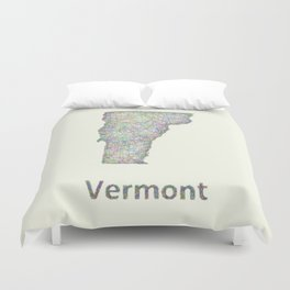 Vermont map Duvet Cover