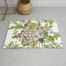 Lost world in enchanted forest Rug