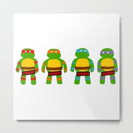 Naughty Ninja Turtles Metal Print