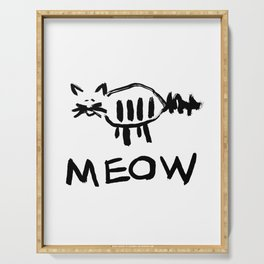 Cat Meow Ink Serving Tray