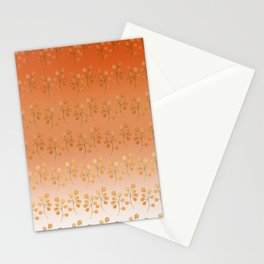 """Cactus flowers in soft orange"" Stationery Cards"