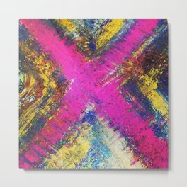Pink X Metal Print