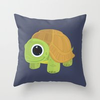 turtle Throw Pillows featuring Turtle by Adamzworld
