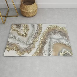 Geode Resin Painting Rug