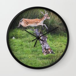 The jumping Deer Wall Clock