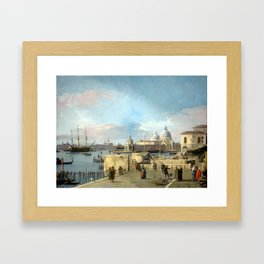 Giovanni Antonio Canal, il Canaletto Entrance to the Grand Canal from the West End of the Molo Framed Art Print