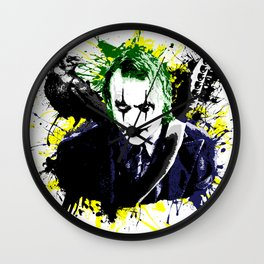 The Crow and Joker Mashup Wall Clock
