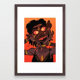 Golden Stitches Framed Art Print