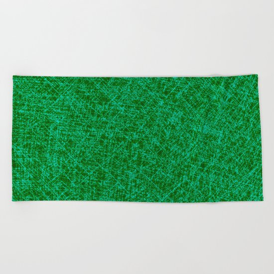 Scratched Green Beach Towel