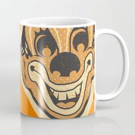 Retro Creepy Halloween Clown Face Mask Coffee Mug