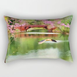 Flight of the Egret Rectangular Pillow
