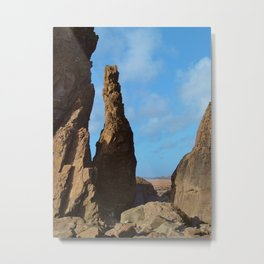 ROCK STACK SANDYMOUTH BEACH NORTH CORNWALL Metal Print