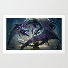 Black Dragon v2 Art Print