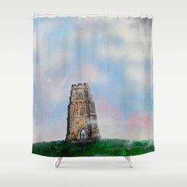 Glastonbury Tor 3 Shower Curtain