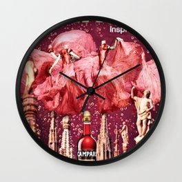 Vintage Cordial Bitter Campari Pink Deco Advertisement Print Wall Clock