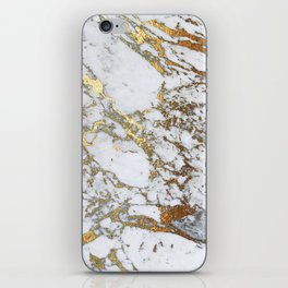 Gold Marble iPhone Skin