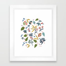 Moth Garden Framed Art Print