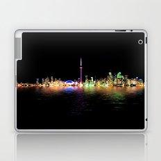 Toronto Skyline At Night From Centre Island Reflection Laptop & iPad Skin